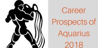 Career Prospect of Aquarius : 2018