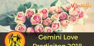 Gemini Love Prediciton 2018