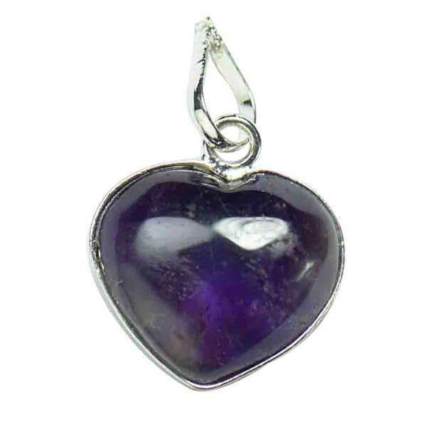 amethyst heart pendant