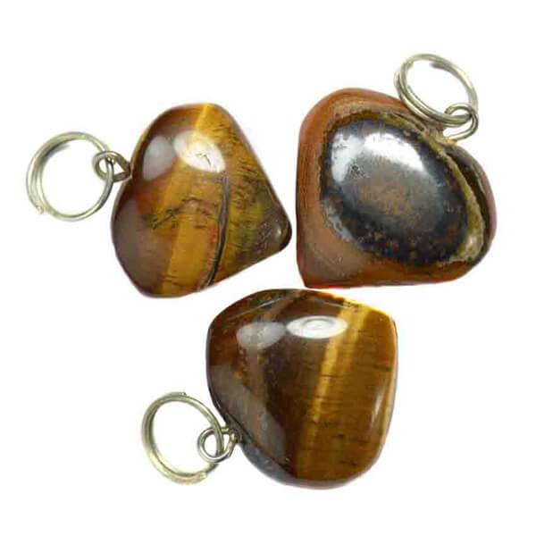 tiger eye heart pendant