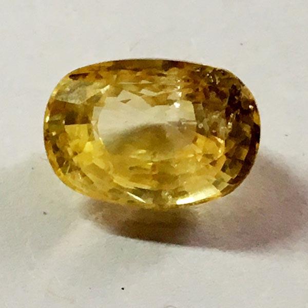 Natural Yellow Sapphire - 6.46 Ct
