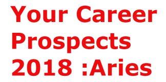 Aries Career Prediction 2018