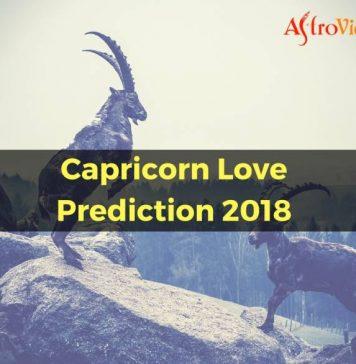 Capricorn Love Prediction 2018