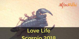 Love Life Scorpio 2018