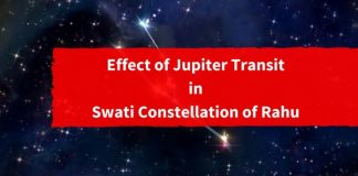 Effect of Jupiter Transit in Swati Constellation of Rahu1