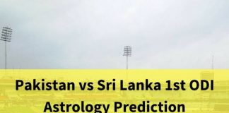 Pakistan vs Srilanka Dubai First ODI astrology prediction