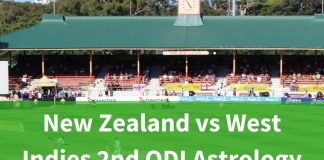New Zealand vs West Indies 2nd ODI Astrology Prediction
