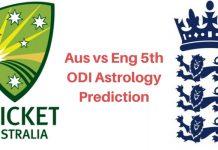Aus vs Eng 5th ODI Astrology Prediction