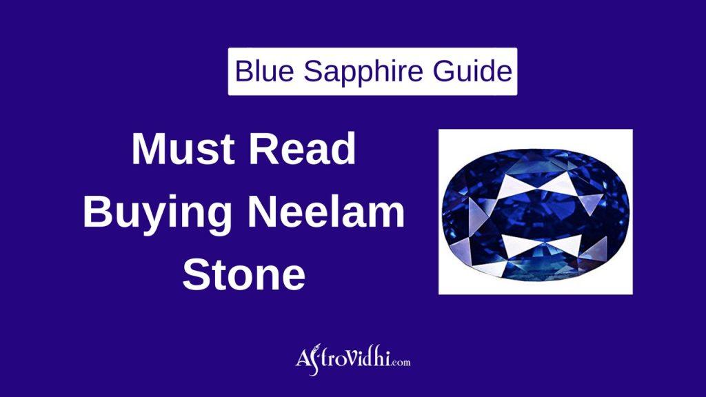 Benefits of Blue Sapphire Neelam
