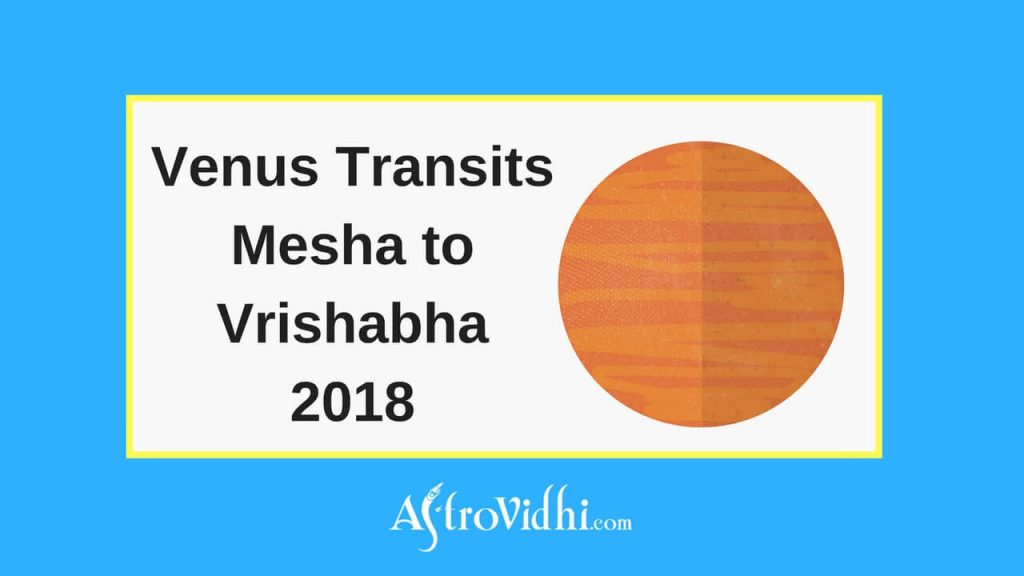 Venus Transits Mesha to Vrishabha 2018