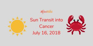 Sun Transit into Cancer July 2018