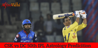 CSK vs DC 50th IPL Match Prediction