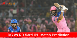 Dc vs RR 53rd IPL Prediction